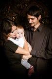 Glückliche Familie, Muttervatibaby Lizenzfreies Stockbild