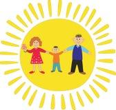 Glückliche Familie: Vati, Mama und Sohn Lizenzfreies Stockfoto
