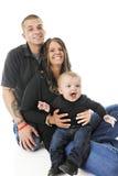 Glückliche Familie von drei Stockfotos