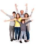 Glückliche Familie von fünf mit Jungen Lizenzfreie Stockfotos