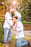 Glückliche Familie warten auf das Baby Lizenzfreies Stockbild