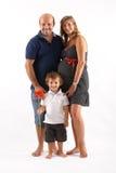 Glückliche Familie zusammen Stockfoto