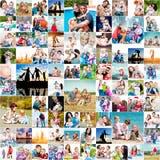 Glückliche Familien Lizenzfreie Stockfotos