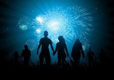 Glückliche Familien-Feiern lizenzfreie abbildung