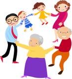 Glückliche Familienholdinghände lizenzfreie abbildung