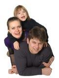 Glückliche Familienmama, der Vati, der Sohn stockbilder