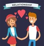 Glückliche Familienpaare des Jungen und des Mädchens in der Liebe Lizenzfreie Stockfotos