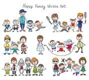 Glückliche Familienskizze des Gekritzels Lizenzfreies Stockbild