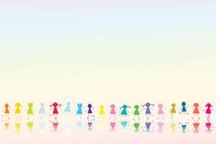 Glückliche farbige Kinder Lizenzfreies Stockfoto