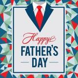 Glückliche father's Tagesgrußkarte Lizenzfreies Stockbild