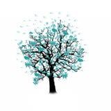 Glückliche Feier, lustiger Baum mit Feiertagssymbolen Stockbild