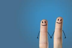 Glückliche Finger stockfotos
