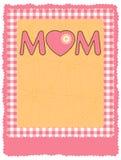 Glückliche Flugblatt-/-plakat-Schablone des Mutter Tages. ENV 8 Stockfotos