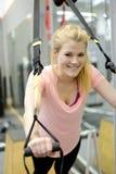 Glückliche Frau in der Gymnastik Lizenzfreies Stockbild