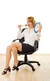 Glückliche Frau im Mittag Lizenzfreies Stockfoto