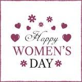 Glückliche Frauen ` s Tagesschablonenkarte Lizenzfreies Stockfoto