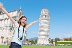 Glückliche Frauenreise in Italien Lizenzfreie Stockbilder