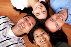 Glückliche Freunde Stockfoto