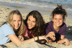 glückliche Freunde Lizenzfreie Stockfotos
