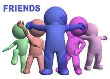 Glückliche Freunde vektor abbildung