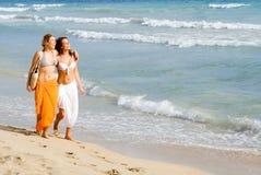 Glückliche Freunde auf Ferien lizenzfreie stockfotos