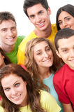 Glückliche Freunde zusammen Lizenzfreie Stockfotos