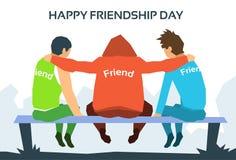 Glückliche Freundschafts-Tagesfreunde zusammen Lizenzfreie Stockfotografie
