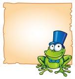 Frosch mit Hintergrund Stockfotografie