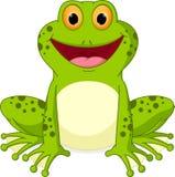 Glückliche Froschkarikatur Stockbild