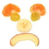 Glückliche Fruchtdiät lizenzfreie stockbilder