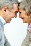 Glückliche gealterte Paare Lizenzfreie Stockfotos