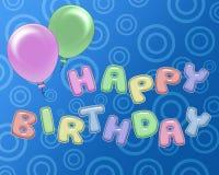 Glückliche Geburtstagsfeiereinladung Stockfotos