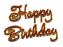 Glückliche Geburtstagsfeiergrußkarte, braune Farben, glatte Effekte Funkeln und Schönheit Stockbild