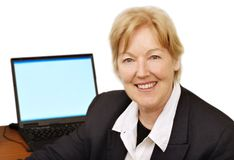 Glückliche Geschäftsfrau III lizenzfreies stockbild