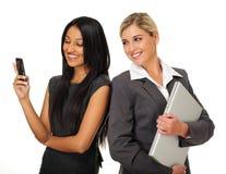 Glückliche Geschäftsfrauen lizenzfreies stockfoto