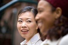 Glückliche Geschäftsfrauen Stockbild