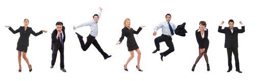 Glückliche Geschäftsleute Stockfotos