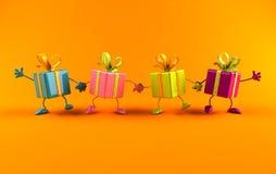 Glückliche Geschenke stock abbildung