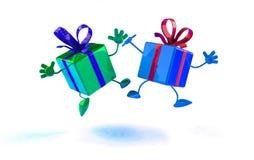Glückliche Geschenke lizenzfreie abbildung
