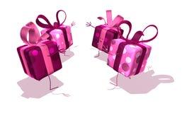 Glückliche Geschenke vektor abbildung