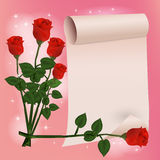 Glückliche Glückwunschkarte mit Rosenblume Lizenzfreie Stockfotos