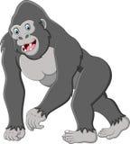 Glückliche Gorillakarikatur vektor abbildung