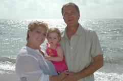 Glückliche Großeltern Stockfotos