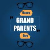 Glückliche Großeltern-Tagesgrüße Lizenzfreies Stockfoto