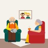 Glückliche Großelternillustration Stockbilder