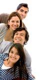 Glückliche Gruppe Freunde Stockfoto
