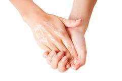 Glückliche Hände Stockbild