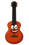 Glückliche hölzerne Akustikgitarre Stockfotografie