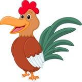 Glückliche Hühnerkarikatur Lizenzfreies Stockfoto