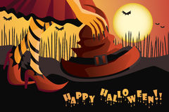 Glückliche Halloween-Abbildung Stockbild